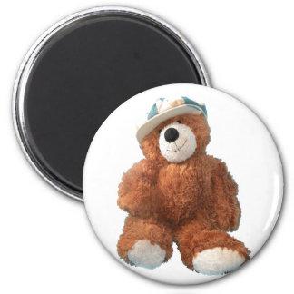 Teddy Bear - Oliver 2 Inch Round Magnet