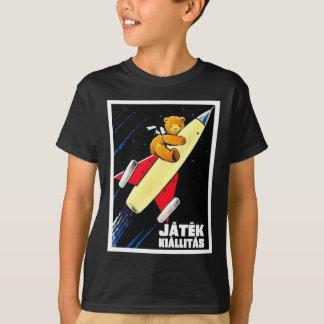 Teddy Bear On A Rocket Vintage Hungarian Toy Fair T-Shirt