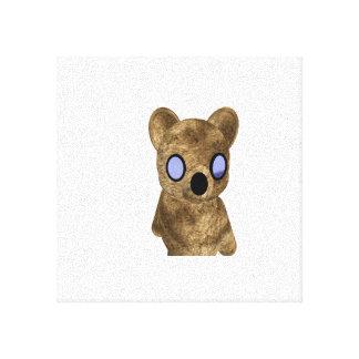 Teddy Bear on Canvas Canvas Print
