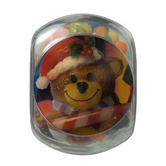 Teddy Bear on Ice Jelly Belly Candy Jar