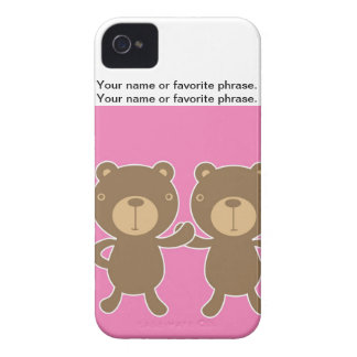 Teddy bear on plain pink background. iPhone 4 covers