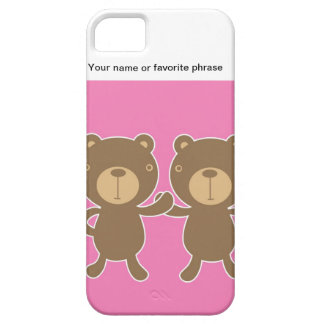 Teddy bear on plain pink background. case for iPhone 5/5S