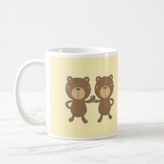 Teddy Bear on Yellow Background. Coffee Mug