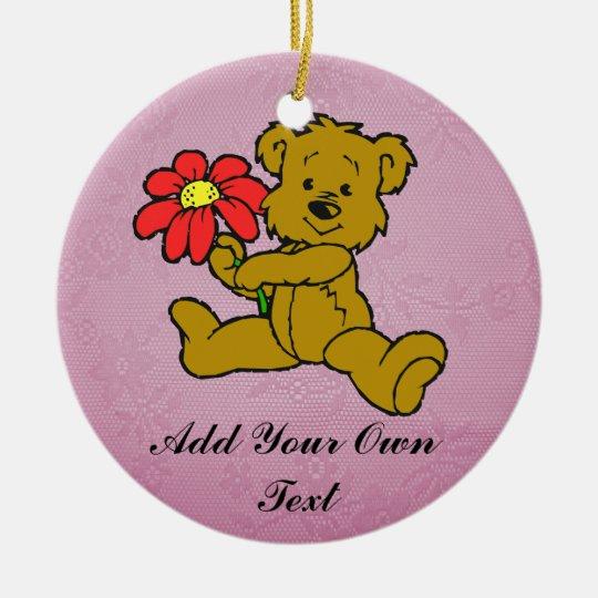 TEDDY BEAR-ORNAMENT CERAMIC ORNAMENT