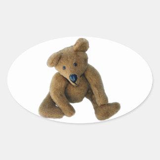 Teddy Bear Oval Sticker