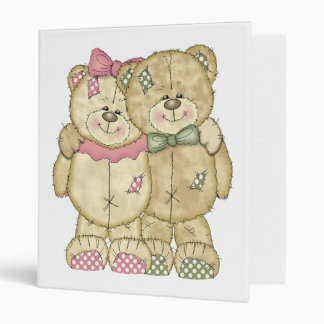 Teddy Bear Pair - Original Colors Binder