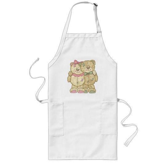 Teddy Bear Pair - Original Colors Long Apron