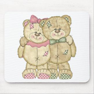 Teddy Bear Pair - Original Colors Mouse Pad