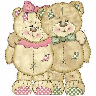 Teddy Bear Pair - Original Colors Cut Out