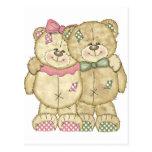 Teddy Bear Pair - Original Colors Post Cards