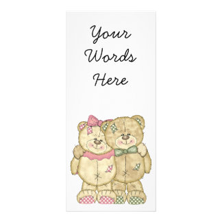 Teddy Bear Pair - Original Colors Rack Card