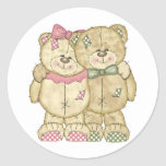 Teddy Bear Pair - Original Colors Classic Round Sticker