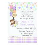 "Teddy Bear Pastel Baby Shower Invitation 5"" X 7"" Invitation Card"
