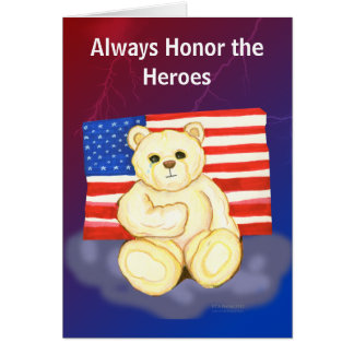 Teddy Bear  Patriot Day Greeting Card