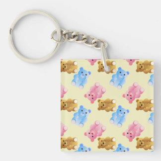 Teddy Bear Pattern Keychain