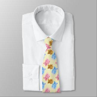 Teddy Bear Pattern Neck Tie