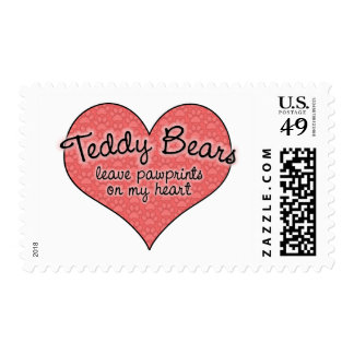 Teddy Bear Pawprints on My Heart Stamp