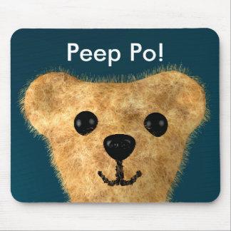 Teddy Bear (Peep po!) Mouse Pad