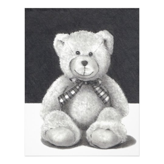 TEDDY BEAR: PENCIL ART: REALISM FLYER