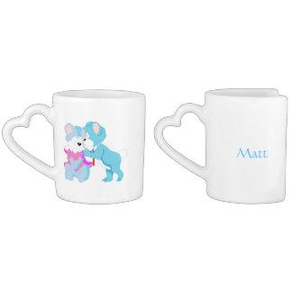 Teddy Bear Personalized Couple Mugs