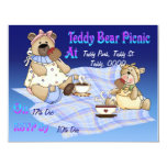 "Teddy Bear Picnic 4.25"" X 5.5"" Invitation Card"