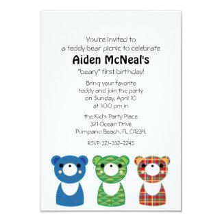 teddy bear picnic BIRTHDAY PARTY invitation 1