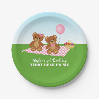 Teddy Bear Picnic Birthday Party Paper Plate