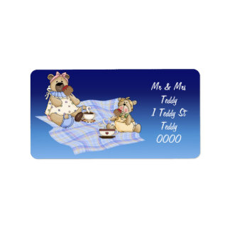 Teddy Bear Picnic Custom Address Label