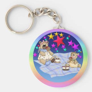 Teddy Bear Picnic Basic Round Button Keychain