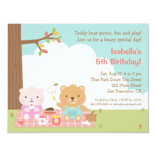 Teddy Bear Invites is great invitations layout