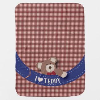 Teddy Bear Picnic- Red Gingham Receiving Blanket