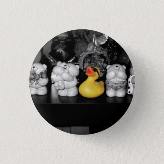 'Teddy bear picnic' Rubber Duck Button (small)