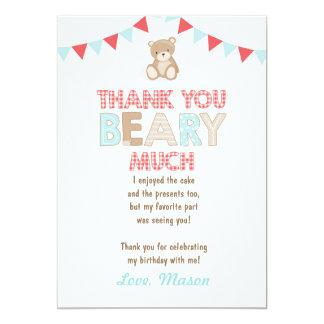 Teddy bear picnic Thank You Card Teddy bear Boy
