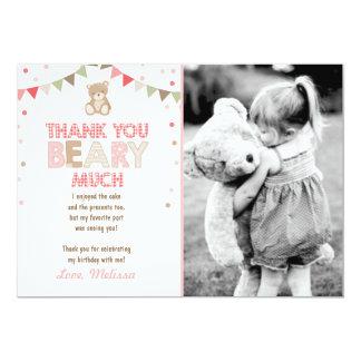Teddy bear picnic Thank You Card Teddy bear Girl