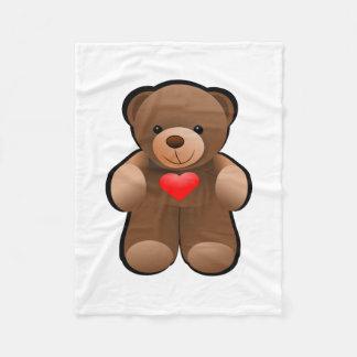 Teddy Bear Picture Fleece Blanket