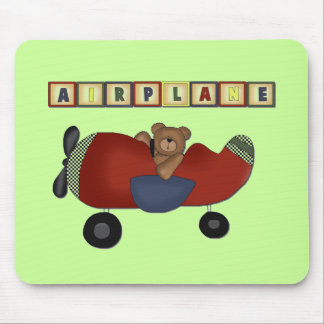 Teddy Bear Pilot Tshirts and Gifts Mouse Pad