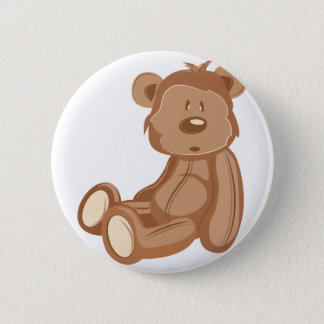 Teddy Bear Pinback Button