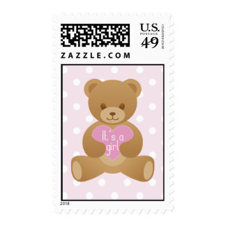 Teddy bear pink Stamp