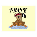 Teddy Bear Pirate Tshirts and Gifts Postcard