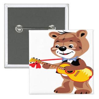Teddy bear playing a guitar button