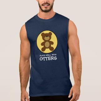 Teddy Bear Plays Well With Otters Sleeveless Shirt