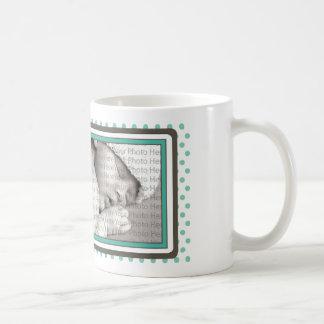 Teddy Bear Polkadot Baby Mug Gift :: aqua
