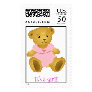 Teddy Bear Postage-It's a girl! Postage