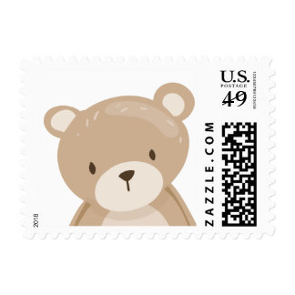 Teddy bear Postage Stamps Baby shower Woodland