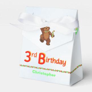 Teddy Bear Prince 3rd Birthday Party Custom Favor Box