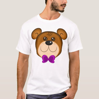 Teddy Bear Purple Bow Tie Shirt