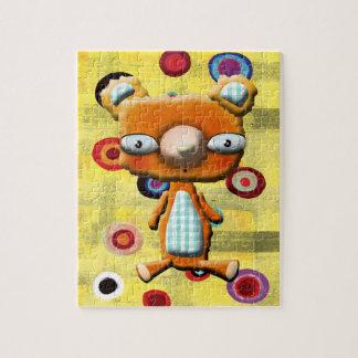 Teddy Bear Puzzle with Tin