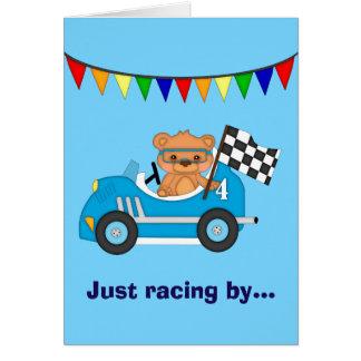 Teddy Bear Race Birthday Card