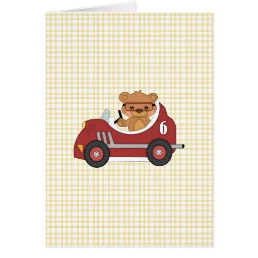 Teddy Bear Racer (red) Card