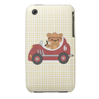 Teddy Bear Racer (red) Case-Mate iPhone 3 Case